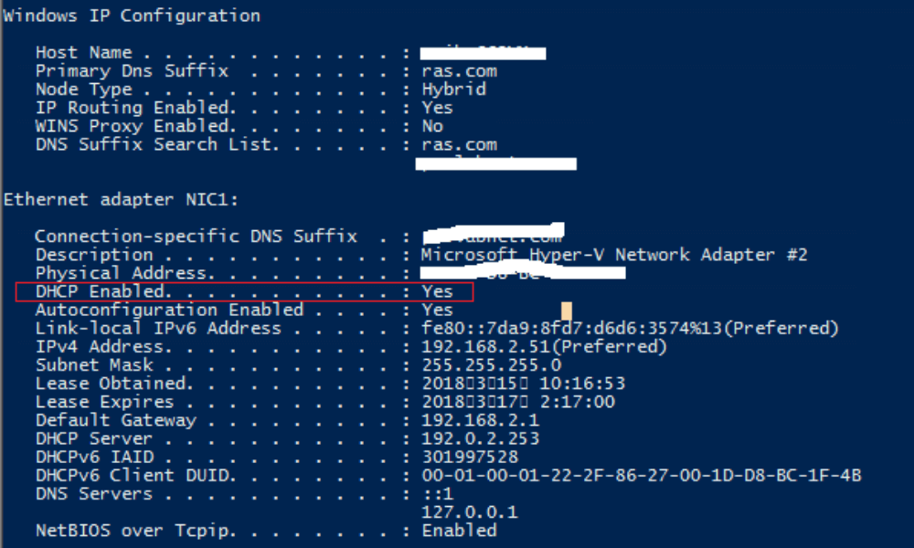 Change ip with command prompt - dhcp